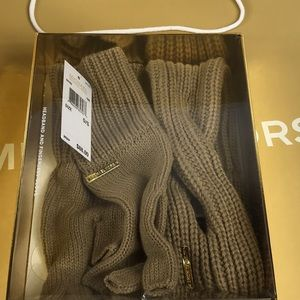 Michael Kors Scarf and mitten Set